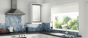 Kitchen cupboard fit vokera for Kitchen boiler housing unit